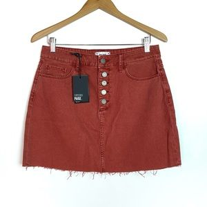 NEW Paige Aideen Exposed Button Front Denim Skirt